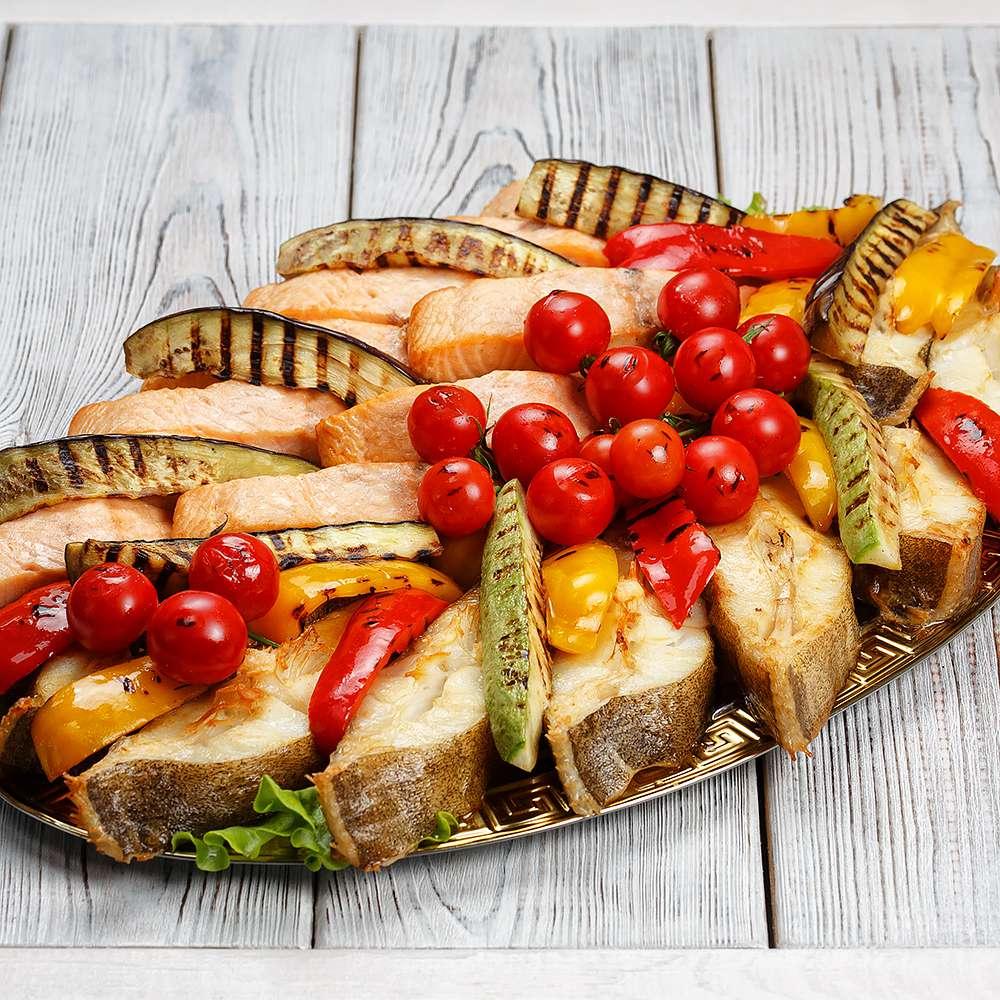 Блюдо Рыбное ассорти с овощами 2,4 кг